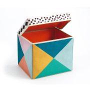 Színes kocka - Tároló doboz - Seat toy boksz - Djeco
