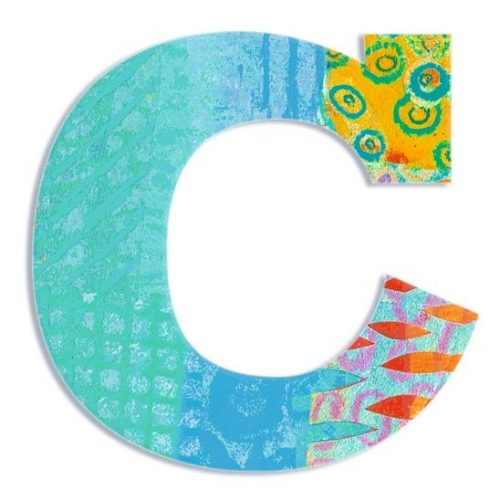 C - Pávás betű - C - Peacock letter - Djeco