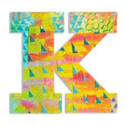 K - Pávás betű - K - Peacock letter - Djeco