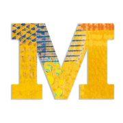 M - Pávás betű - M - Peacock letter - Djeco