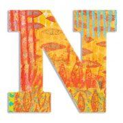 N - Pávás betű - N - Peacock - Djeco