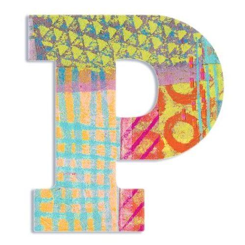 P - Pávás betű - P - Peacock - Djeco