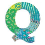 Q - Pávás betű - Q - Peacock letter - Djeco