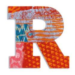 R - Pávás betű - R - Peacock - Djeco