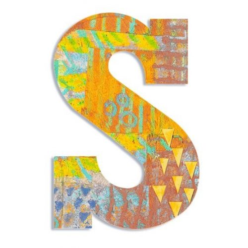 S - Pávás betű - S - Peacock letter - Djeco