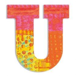 U - Pávás betű - U - Peacock letter - Djeco