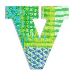 V - Pávás betű - V - Peacock - Djeco