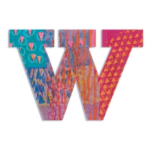 W - Pávás betű - W - Peacock letter - Djeco