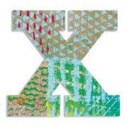 X - Pávás betű - X - Peacock - Djeco