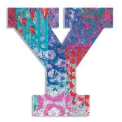 Y - Pávás betű - Y - Peacock letter - Djeco