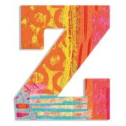 Z - Pávás betű - Z - Peacock letter - Djeco