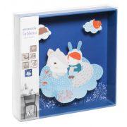Fehér róka - 3D falidekoráció - White fox - 21x21x4cm - Djeco