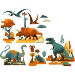Dinoszauruszok - Ablak matrica - Dinosaures - Djeco