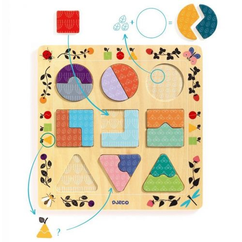Geometriai formák - Formabeillesztő - Ludigraphic - Djeco