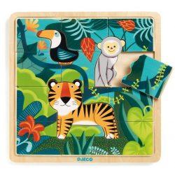 Dzsungelben - Fa puzzle 12 db-os - Puzzle Jungle - Djeco