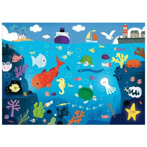 Élet a tenger alatt 24 db-os óriás puzzle - Under the sea - Djeco