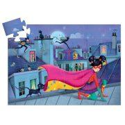 Szuperhősök a háztetőn, 36 db-os formadobozos puzzle - Super star - 36pcs - Djeco