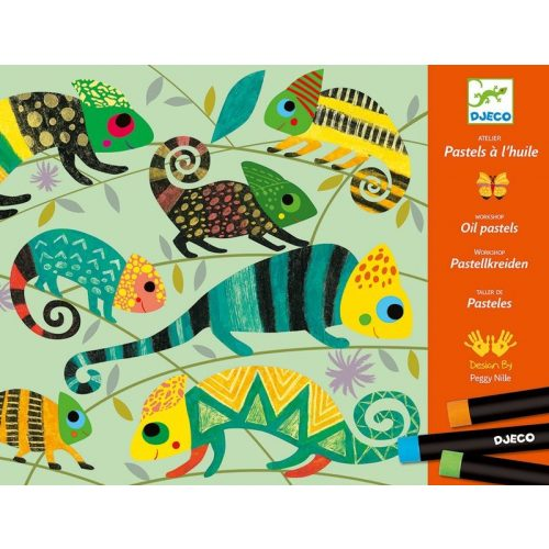 Színes dzsungel - Olaj pasztellel - Coloured jungle - Djeco