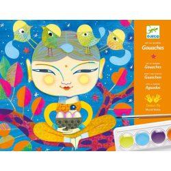 Művészi India - Vízfesték színező ecsettel - India - Djeco
