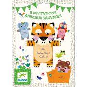 Szavanna állatai - Meghívó - Wild animals invitation cards - Djeco