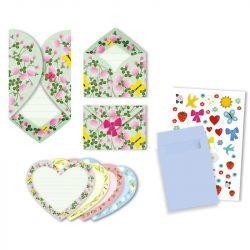 Virágos meghívó - Meghívó - Hearts invitation cards - Djeco