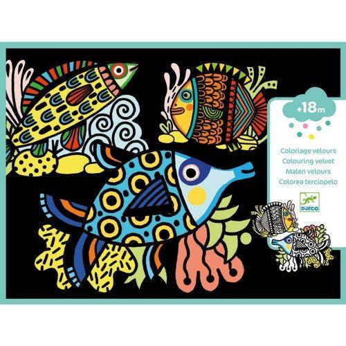 Halak - Bársony színező - Pretty fishes
