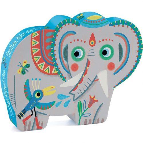 Indiai elefántok - Puzzle 24 db-os - Haathee, Asian elephant - 24pcs