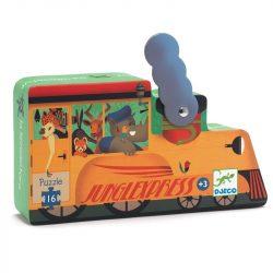 Dzsungel express - Puzzle 16 db-os - The locomotive - 16pcs