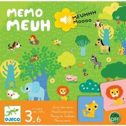Állati memória hangokkal - Memória játék - Memo Meuh - Djeco