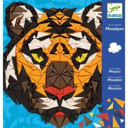 Dzsungel állatok mozaikból - Mozaik építő - Khan - Djeco