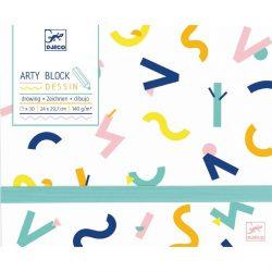Művészi rajz album - Arty block - Drawing paper - Djeco