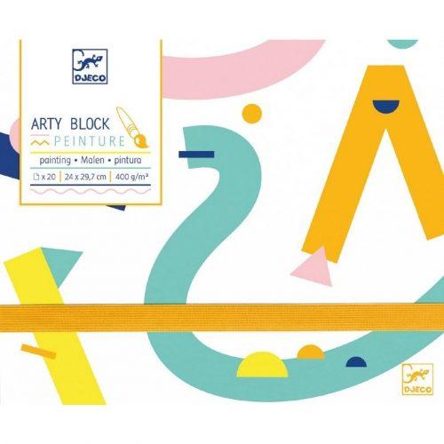 Művészi festő papír - Arty block - Painting paper - Djeco