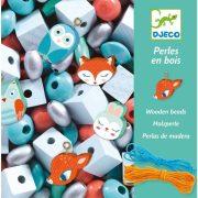 Fa gyöngyök kis állatokkal - Ékszerkészítő - Wooden beads, Small animals - Djeco