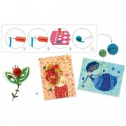Papírkép készítő kreatív szett - Quilling technikával - Petticoat scrolls - Djeco