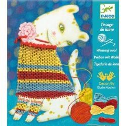 Cica öltöztetés - Varrós kreatív szett - Woolly Jumper - Djeco