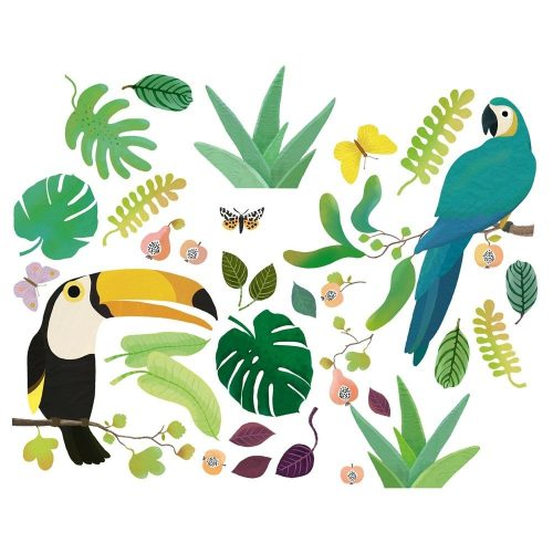 Trópusi madarak - Ablakmatrica - Jungle - 30db - Djeco
