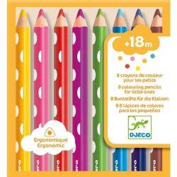 Vastag ceruza - 8 színű ceruza szett a legkisebbeknek - Colouring pencils for little ones - Djeco