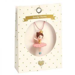 Balerina - Lovely Charmes nyaklánc balerina medállal - Djeco