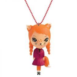 Rókalány - Lovely Charmes nyaklánc rókás medállal - Cat - Djeco