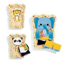 Dzsungel állatok réteges formabeillesztő - Formabeillesztő puzzle - Lucky & Co