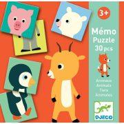 Állati párosító - Párosító memóri játék - Memo Animo-puzzle