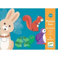 Izgő-mozgó állatok - Mozgatható párosító puzzle - Articulo Animals