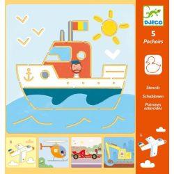 Közlekedő járművek - Rajzsablonok - Tranports & co