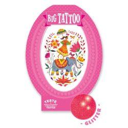 Varázslatos India - Tetováló matricák csillogó - Rose India