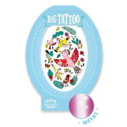 Madárkák - Tetováló matricák fémes hatás - Birdy