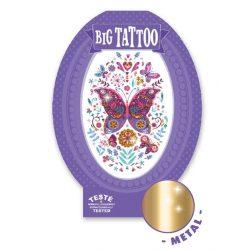 Pillangók - Tetováló matricák fémes hatás - Butterfly