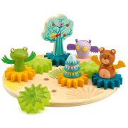 Forgó állatok - Fogaskerekes építő játék - Woodytwist