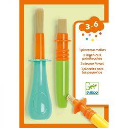 Ecsetkészlet kis művészeknek - 3 db-os ecsetkészlet - 3 ingenious paintbrushes