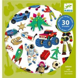 Retró játékok  - Domború matrica 30 db - Retro toys