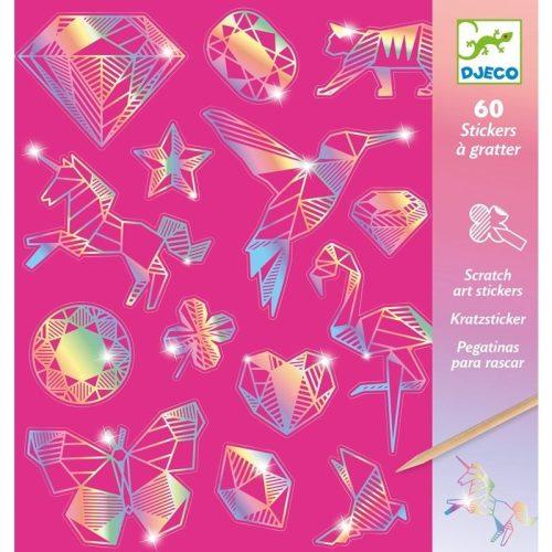 Gyémánt matricák - Matrica színező karc technikával - Diamond